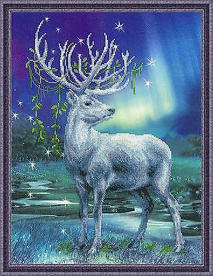"""Counted Cross Stitch Kit RIOLIS 0043 PT - """"White Deer"""""""
