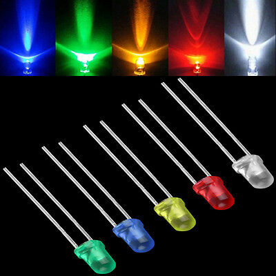 New 100Pcs 3mm LED Light White Yellow Red Blue Green Assortment Diodes DIY Kit
