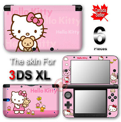Hello Kitty Pink CUTE SKIN VINYL STICKER DECAL COVER for Nintendo 3DS XL