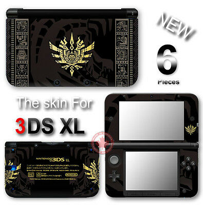 Monster Hunter Limited Edition SKIN STICKER COVER for Original Nintendo 3DS XL