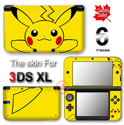 Pokemon Pikachu Classic NEW VINYL SKIN STICKER DECAL COVER for Nintendo 3DS XL