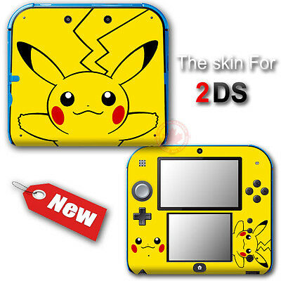 Pokemon Pikachu Popular New SKIN VINYL STICKER DECAL COVER for Nintendo 2DS