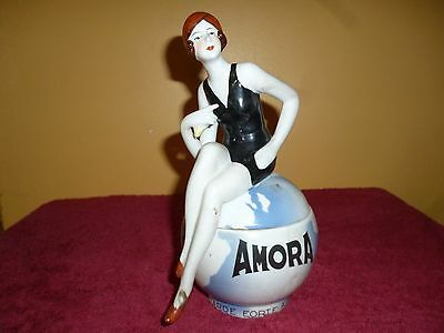 Pin Up  Style Annee 30 Moutardier Amora Porcelaine