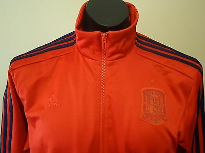 Spain  Official Adidas Red Track Jacket Mens Large New