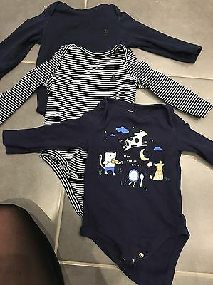 Baby Gap 3 Vests Age 6-12 Months Excellent Condition