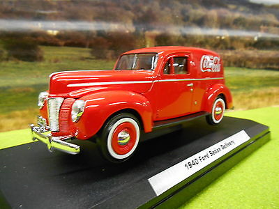 Official Coca Cola Diecast 1940 Ford Sedan Coke Delivery Van 1/24 Boxed & New