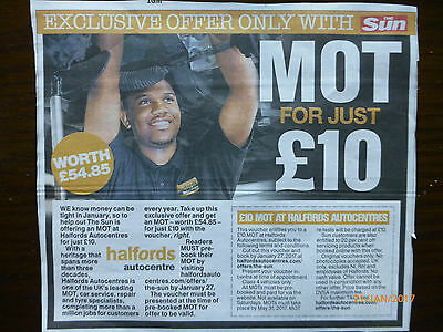 The Sun M.o.t. For £10 At Halfords. Worth £54.85.