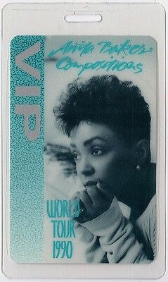 Anita Baker authentic 1990 concert tour Laminated Backstage Pass