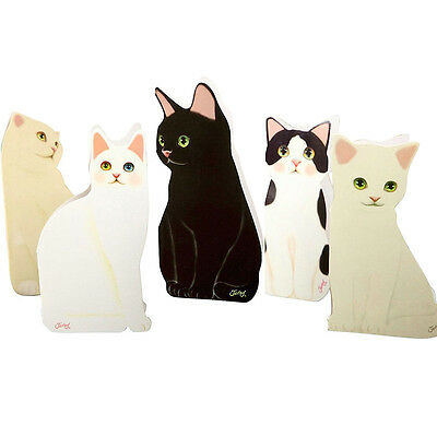 Lovely Design Standing Cat Paper Greeting Card Funny Valentines Birthday Crafts
