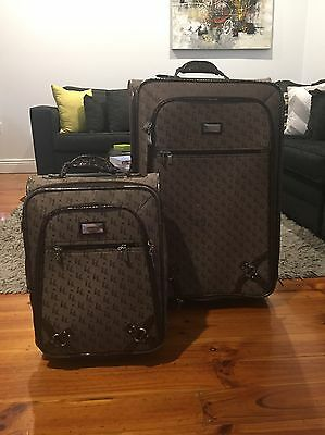 Kate Hill Luggage Set - Includes Large Case And Carry On Case - Brown Colour