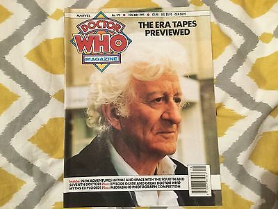 Doctor Who Monthly Magazine 173 Marvel 1991
