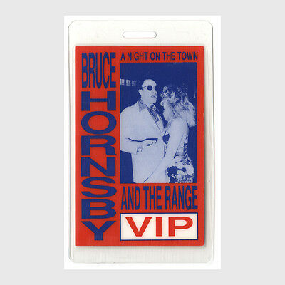 Bruce Hornsby authentic 1990 concert tour Laminated Backstage Pass