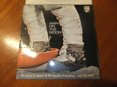 """Man on the Moon - The story in sound of the Apollo 11 landing - 7"""" single"""
