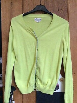 pretty boden girl's yellow cardigan 11-12