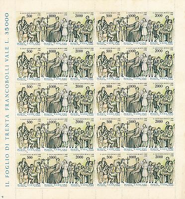 Vatican 1988 Sc 806 St John Bosco Full sheet MNH