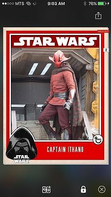 Topps Star Wars Digital Card Trader Captain Ithano Prime Insert