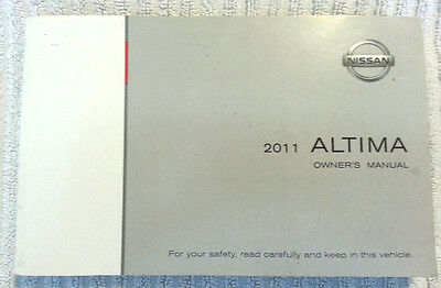 2011 Nissan Altima Owner's Manual Guide 11