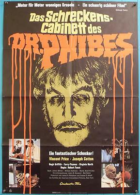 Universal Horror Star Vincent Price Orig Dr Phibes German Film Poster