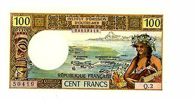 Tahiti    P-24A     100 Francs    Nd(1871)   *unc*