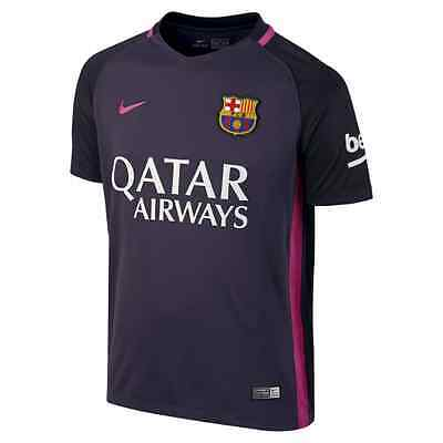 New Nike 2016/17 FC Barcelona Junior Kids  Away  Football Kit Shirt -Purple Pink