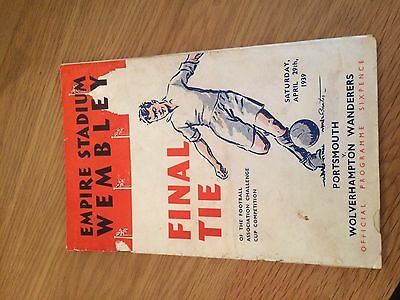 FA CUP FINAL PROGRAMME 1939: Portsmouth v Wolverhampton Wanderers