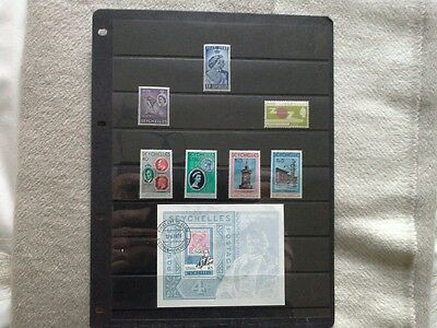 Seychelles - Small Selection of Mint Hinged Stamps Issued Between 1948 and 1979