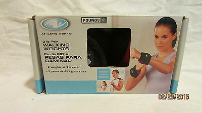 Athletic Works 2 LB Pound Pair Walking Weights