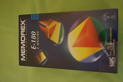 Memorex E-180 3 Pack Blank Vhs Tapes. New, Factory Sealed And Unused.
