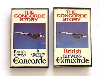 Two Cassette Tapes Concorde British Airways & Singapore Airlines