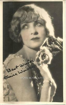 Cute Claire Windsor Original Vintage Silent Screen Star Hollywood Fan Photo