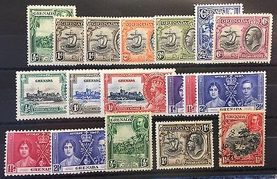 Grenada stamps 1934 onwards Badge Of Colony MH And Used Selection
