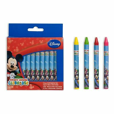 Mikey Mouse 12 Pack Wax Crayons Drawing - Kids Draw - Crayon Set Disney