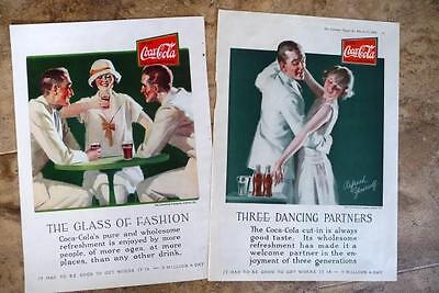 Two Drink Coca Cola, 1926 Color Pages. 3 Dancing Partners, & Glass of Fashion
