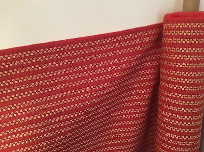 Terracotta and Cream Upholstery Fabric 8 meters by 1.4 meters