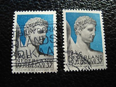PAYS-BAS - timbre yvert et tellier n° 294 x2 obl (A31) stamp netherlands