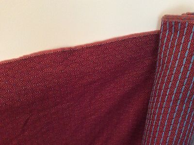 Maroon / Burgundy With Turquoise Spot Upholstery Fabric 4.5 Meters By 1.4 Meters