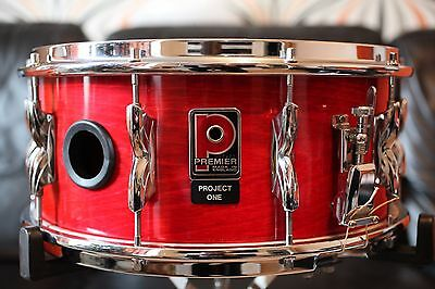 """Premier Project 1 14"""" x 6.1/2"""" snare drum, opaque laquered shell, 1980's vintage"""