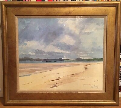 "Robert Kelsey Painting ""Summer Seascape, Barra"" 24x28 Oil On Canvas"