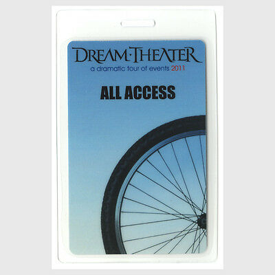 Dream Theater authentic 2011 concert tour Laminated Backstage Pass