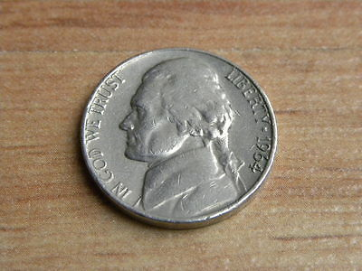 US Nickel 1964 Jefferson 5 Cents Coin