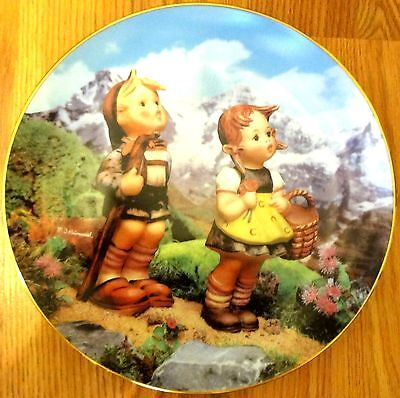 Little Explorers Plate M I Hummel from the Little Companions Collections MINT