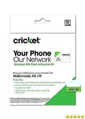 Cricket Wireless Complete Starter Pack: Nano SIM Card with Standard & Micro A...