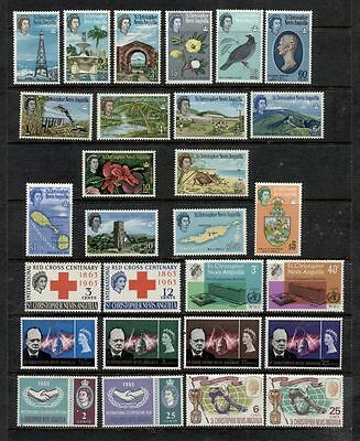 St.KITTS NEVIS ******************** 1963-66 *****************  MINT SETS