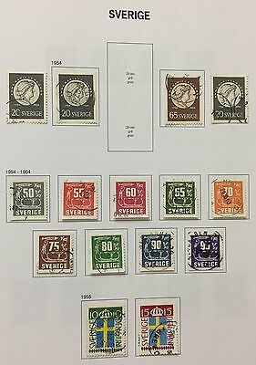 Sverige Sweden 1954/64 Lot Of 15 Perf & Imperf Used Look At The Picture