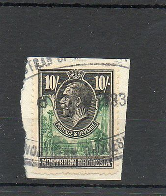 Sg 16 Northern Rhodesia 10/- Used Cat £95 - Revenue Stamp Cancel-