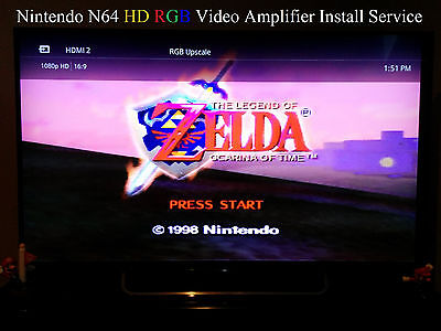 Best Nintendo N64 HDRGB THS7314 Video Amp Mod Installation Mail-in Service 1080p