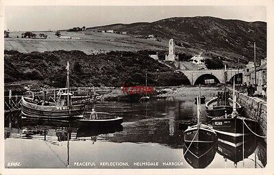 Sutherland Helmsdale Harbour Peaceful Reflections Fishing Boats Photo Card