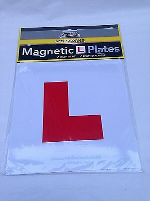 2 X Magnetic Legal L Plates Sticker Learner Bike Car Lorry Motorcycle L Plate