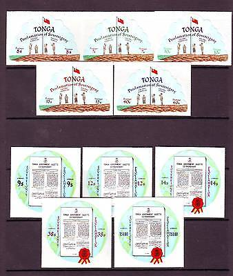 a121 - TONGA - SG429-438 MNH 1972 PROCLAMATION OF SOVEREIGNTY - FULL SET