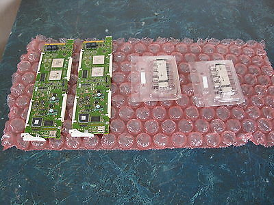 Lot Of (2) Gv 8925 Dmb Boards With (2) 8900 Uvf-R Rear Connectors Grass Valley